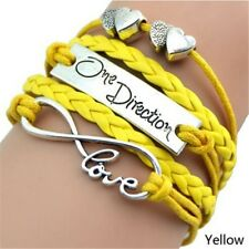 Yellow Multi-layer Braided One Direction Infinity Love Heart Friendship Bracelet