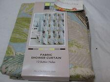 New H2O Trends Fabric Shower Curtain 70x72 BOTANICA - Leaf/Flower NIP