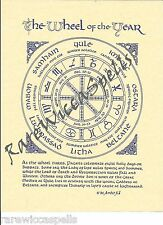 Wheel of the Year Pagan Wicca Book of Shadows Pagan Occult Spell 1pg parchment