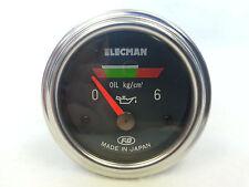 FD ELECMAN COLOR OIL PRESSURE GAUGE MADE IN JAPAN VINTAGE RARE E52SL6K-2/EO-4
