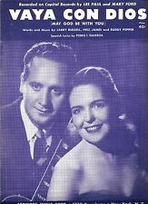 "LES PAUL & MARY FORD ""Vaya Con Dios"" Sheet Music. 1953"