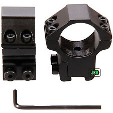 "Nikko Rifle Scope MOUNTS 2 Piece 1"" Tube Medium 11mm 3/8"" Dovetail Airgun Rings"