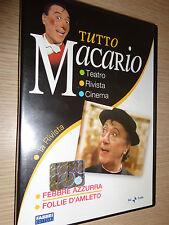 DVD TUTTO MACARIO LA RIVISTA FOLLIE D'AMLETO - FEBBRE AZZURRA