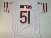 UNSIGNED CUSTOM Sewn Stitched Dick Butkus White Jersey - M, L, XL, 2XL