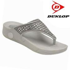 Ladies Low Wedge Heel Flip Flops Comfort Walking Shoe Fit Fitness Toning Sandals