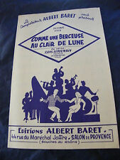 Partition Comme a Lullaby to the Clair de Lune Albert Baret Music Sheet