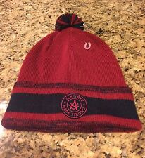 KURTZ AK377 Mens Military Cap Beanie Knit Hat Maroon Navy Blue OSFA