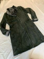 THE LAMB LEATHER CO OF SPAIN BLACK SHEARLING COAT SZ 50