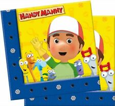 20 tovaglioli in carta Handy Manny 33x33 cm per feste a tema
