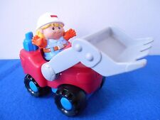 Fisher Price Little People Construction Front Loader w/ Worker Bulldozer