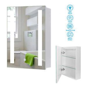 LED Bathroom Mirror Cabinet Storage With Shaver Socket/Demister/Sensor Switch..