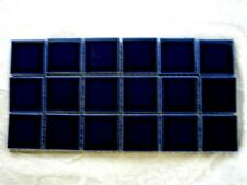 "18 - 2"" Square Cobalt Blue Ceramic Tiles-Craft Projects"