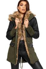 Cappotti e giacche da donna blu nessuna fantasia in pelle