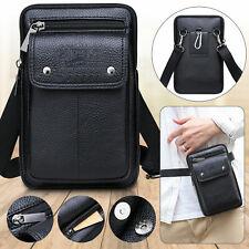 Fashion Men Leather Cell Phone Bag Shoulder Crossbody Waist Pack Belt Case Pouch