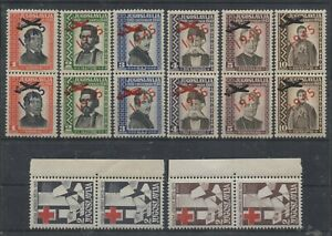 C079 YUGOSLAVIA 1945 Offices abroad unissed Air mail & Red Crosss sets MNH Luxus