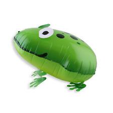 Funny verde rana animales globos hoja caminar regalos PET