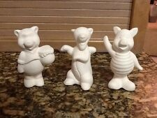 Disney Tigger Piglet and Pooh Bear Ceramic Bisque Ready to Paint