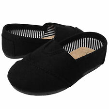 NEW Baby Toddler Girls Round Toe Canvas Flats Slippers Shoes BLACK RED LEOPARD