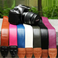 PU Leather Camera Shoulder Strap Neck Belt Hand Grip For DSLR Nikon Canon Sony