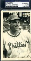 Dick Sisler Signed Psa/dna 1949 Postmarked Phillies Postcard Autograph