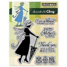 PENNY BLACK RUBBER STAMPS SLAPSTICK CLING SO BLESSED LADY MOM NEW cling STAMP