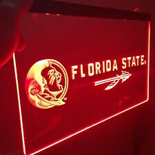 Florida State Seminoles LED Neon Sign for Game Room,Office,Bar,Man Cave, New!