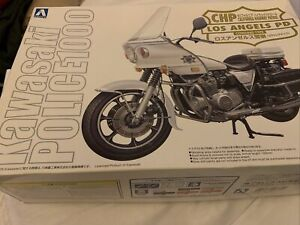 Aoshima 1/12 BIKE CHP Los Angeles PD Cowling Type Plastic Model Kit from Japan