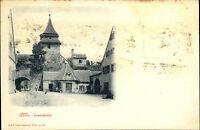 Ulm um 1900 Strassen Partie am Zundelthörle Verlag Carl Gaissmaier ungelaufen