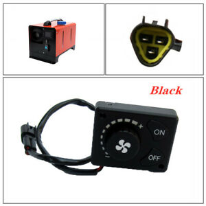 12/24V Controller Switch Knob Adjusts Air Volume Adapter  For Car Parking Heater