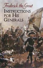 Instructions for His Generals: Frederick the Great by Dover Publications Inc. (Paperback, 2005)