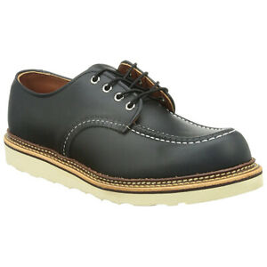 Red Wing Classic Oxford 8106 Black Mens Leather Moc Toe Lace-up Shoes