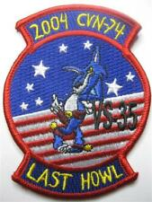 U.S. NAVY AUFNÄHER PATCH VS-35 BLUE WOLVES LAST HOWL 2004 CVN-74 USN