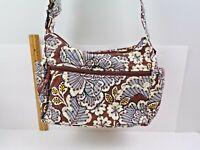"NEW Vera Bradley ""on the go Slate bloom"" purse handbag adjustable straps"
