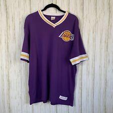 Mitchell & Ness Lakers T-shirt Sz L V-Neck Purple NAB Finals 2000