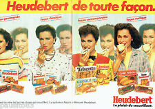 PUBLICITE ADVERTISING 086  1981  Heudebert  (2p)  biscottes pain grillé