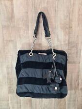 JUICY COUTURE Bag Purse Velour Black Large Tote Shoulder Bag