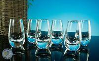 MID CENTURY 6 STEUBEN CRYSTAL TEARDROP BULLET SHOT GLASSES LIQUOR VODKA