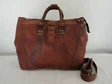 "17x14"" Real Leather Briefcase Travel Aircabin Handbag Suitcase Laptop Bag"