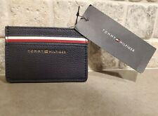 Tommy Hilfiger Card Holder Wallet Black Leather New MSRP $38.00