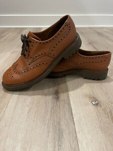 Alfred Sargent Leather Oxford Men's Brown Shipton Shoes Size~9.5 Commando Soles!