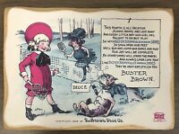 VTG Buster Brown Blue Ribbon Shoes Wall Hanging Advertisement Magnet