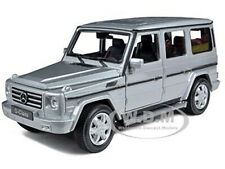 MERCEDES BENZ G CLASS WAGON SILVER 1/24-1/27 DIECAST MODEL CAR BY WELLY 24012