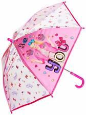 Jojo Siwa Girls Dome Umbrella Childrens Girls Pink Travel Bubble Brolly Rain