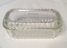 Vintage 'Food Saver' Embossed Glass Refrigerator Dish~Storage Container W/lid