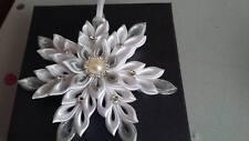 Kanzashi Snowflakes-Xmas Tree Decorations Ornaments