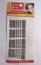 Silver Hair Bobby Pins , 60-Pieces , Smooth Finish , Ball Tips
