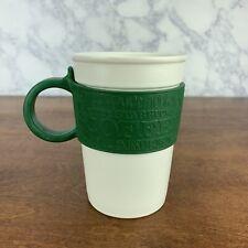 2008 Starbucks Green Silicone Rubber Designer Grip Handle Coffee Mug Cup 12 Oz