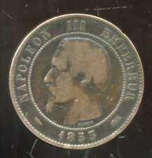 FRANCE  FRANCIA   10 centimes NAPOLEON III   1853 D  (4)