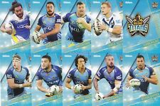 2018 NRL Traders Gold Coast Titans COMPLETE team set