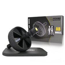 Ab Wheel Roller Nero Power Guidance ruota Allenamento Attrezzo per (1a6)